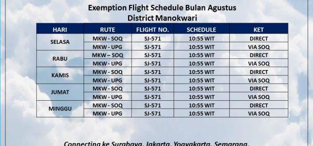 Mau Kemana? Ini Jadwal Penerbangan Sriwijaya Air Dari dan Ke Manokwari