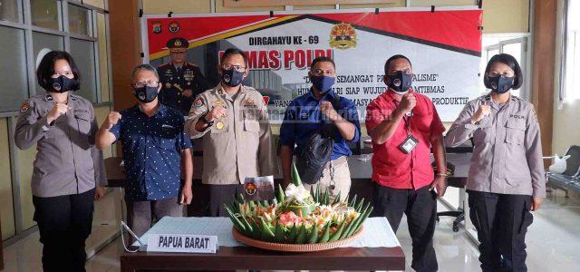 Kadiv Humas Polri Sebut Ini, Polda Papua Barat Syukuran HUT Ke-69 Humas Polri