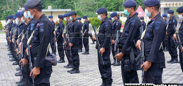 Polda Papua Barat Geser 100 Personil Brimob BKO Bali ke Kabupaten Bintuni Amankan Pilkada