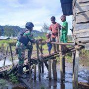 Satgas Pam Rahwan Yon Raider 500 Patroli Simpatik