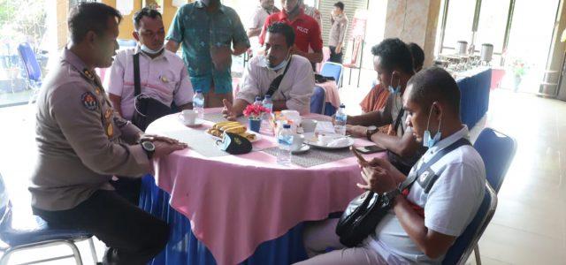 Tim Asistensi Polda Papua Barat Silaturahmi Bersama Wartawan di Bintuni