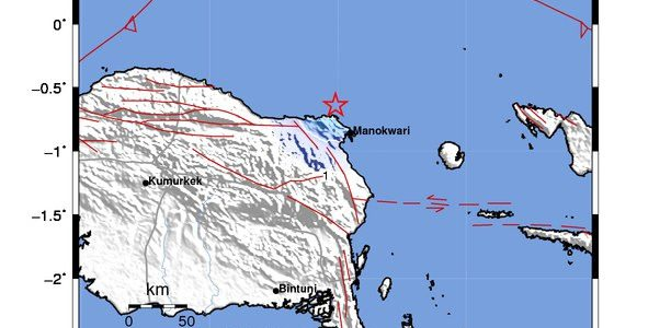 Gempabumi Tektonik Dirasakan di Manokwari-Papua Barat