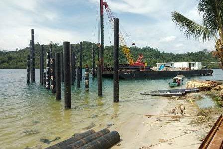 Telan Dana Multi Yhears Rp.45 Miliar Lebih, Pelabuhan Laut Distrik Karas di Fakfak Mulai Dibangun