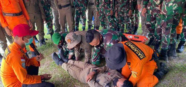 Brimob Polda Papua Barat, TNI dan Basarnas Latihan Penyelamatan dan Evakuasi Saat Bencana