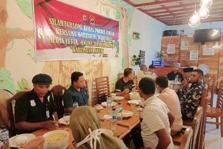Pererat Tali Silahturahmi, Humas Polres Fakfak Gelar Buka Puasa Bersama Awak Media