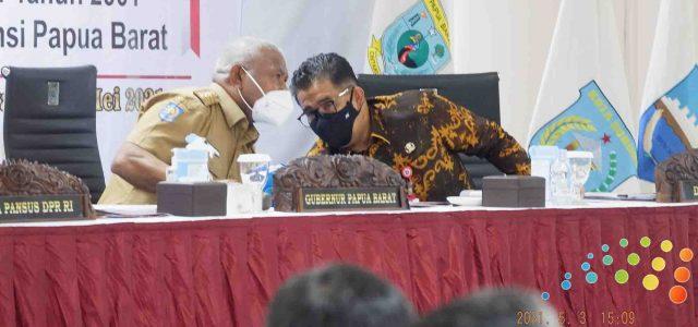 Komaruddin Watubun Pimpin RDP Pansus DPR RI Bersama Gubernur Papua Barat, Ini Pesan Dominggus Mandacan