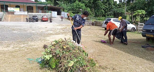 Panitia HUT Pattimura 2021 Bersih-bersih Masjid dan TMP Manokwari