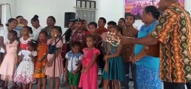 Vocal Group Anak Sanggeng Tampil Memukau di Gereja Bahtera Kodim Manokwari