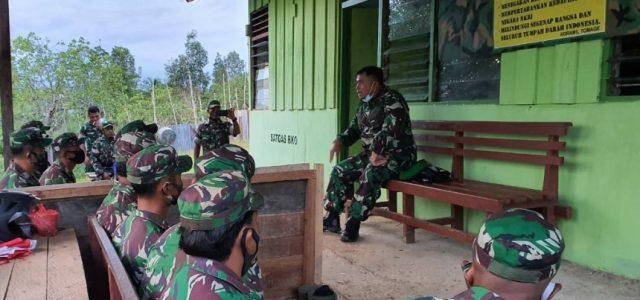 Dandim Fakfak Kunjungi Pos Satgas BKO Distrik Tomage