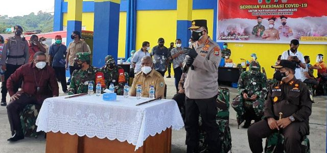 Kapolda Papua Barat : Vaksinasi Adalah Kekuatan Kita hadapi Covid-19