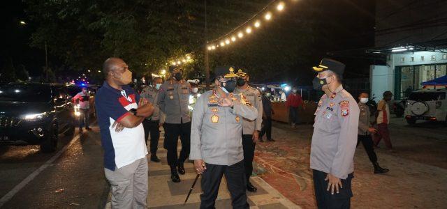 Kapolda, Wagub Papua Barat, Bersama Dandrem Tinjau Pos Penyekatan PPKM Level 4 di Kota Sorong