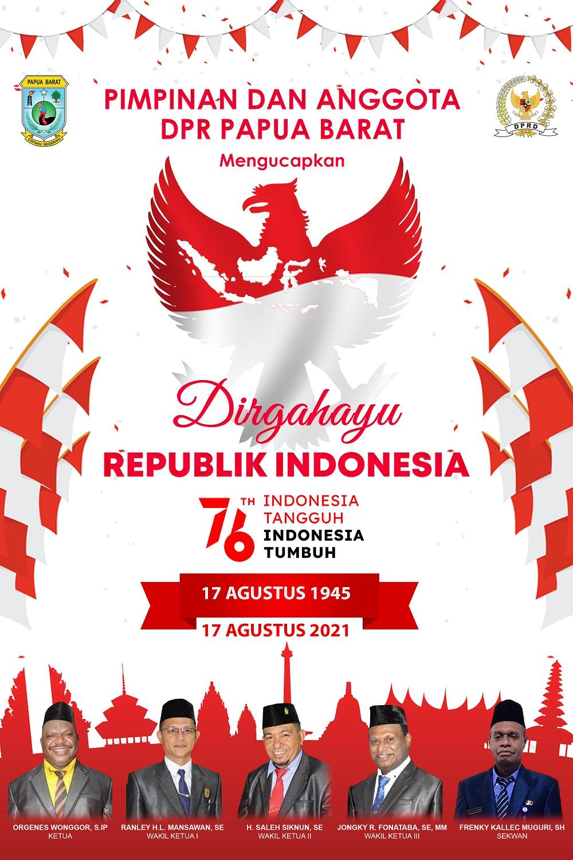 DPRD Papua Barat-HUT RI 2021