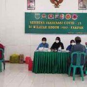 """Vaksinasi Massal Covid-19 Dengan Tema : """"Indonesia Sehat, Indonesia Hebat"""" menambah Cakupan Vaksinasi di Fakfak"""